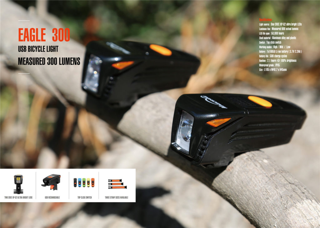 rechargeable front bike light