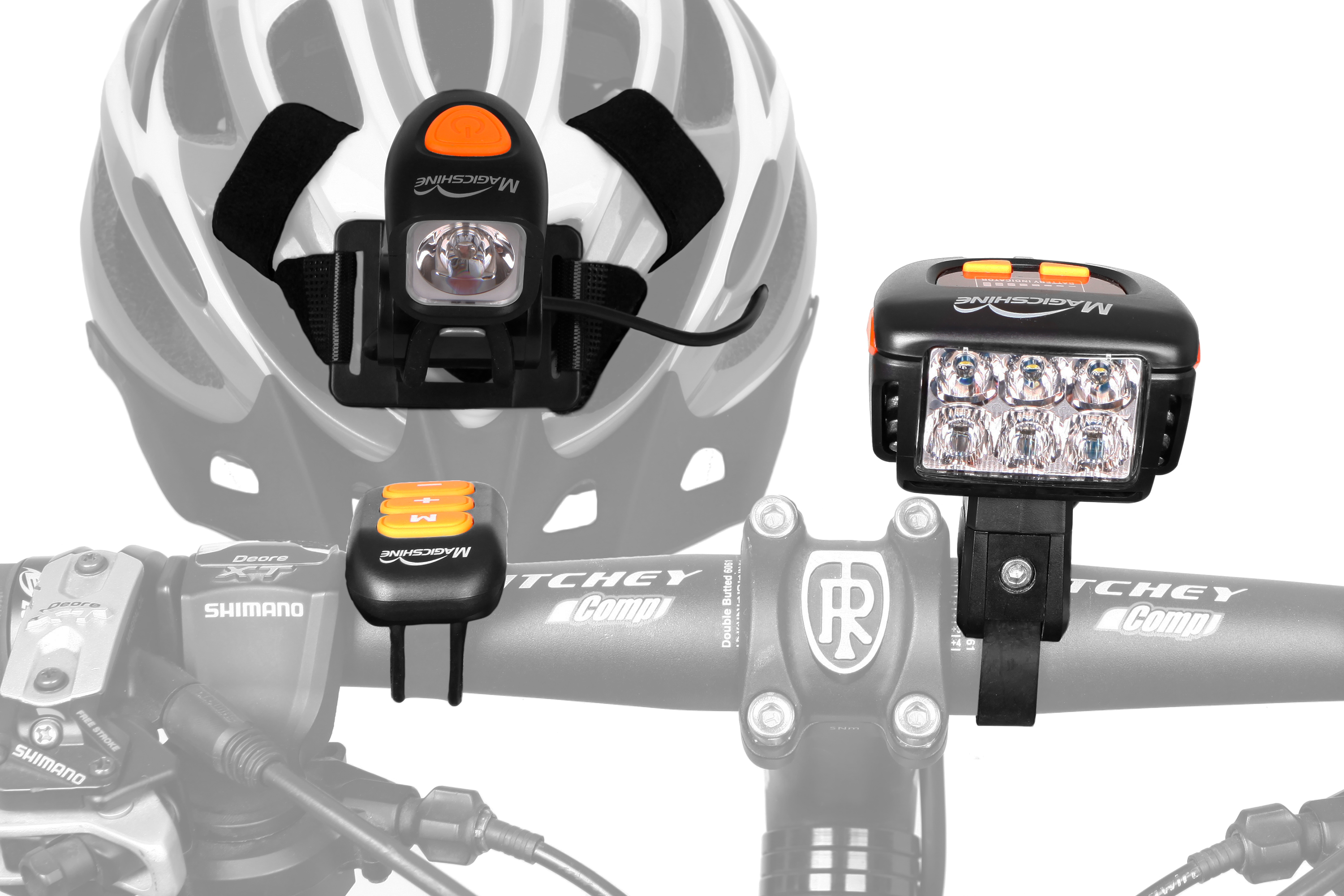 MTB bike light combo