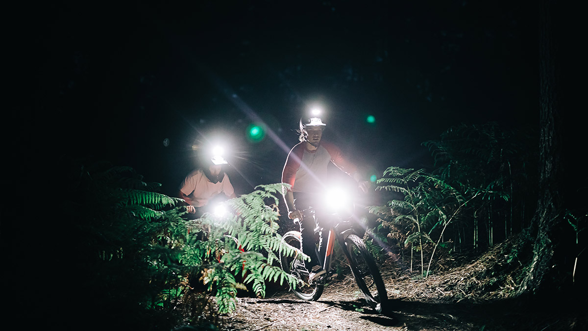 DIY MTB bike light set